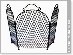 Square Design 3 Pandel Fire Screen