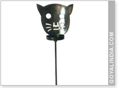 Cat Face Garden Stick