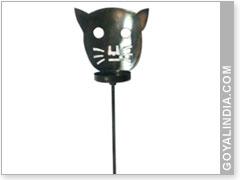 Cat Face Garden Stick