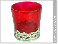 Red Glass Votives