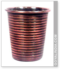Goblet Shape Round Ribbed Votive