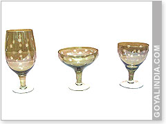 Glass Goblet Cut Work