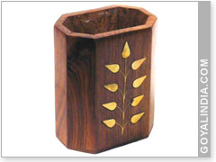 Pen Holder With Inlay